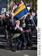 Ветеран на параде победы (2015 год). Редакционное фото, фотограф Katerina Uno / Фотобанк Лори
