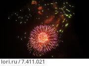 Купить «Салют в честь Дня Победы», фото № 7411021, снято 10 мая 2015 г. (c) Иванова Анастасия / Фотобанк Лори