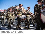 Военный оркестр на параде победы (2015 год). Редакционное фото, фотограф Katerina Uno / Фотобанк Лори