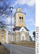 Купить «Керимяки. Финляндия. Самая большая христианская церковь, построенная из дерева. 1848. Колокольня», фото № 7414533, снято 25 апреля 2015 г. (c) Владимир Кошарев / Фотобанк Лори