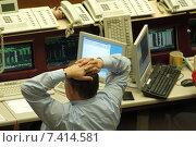 Купить «Floor trading on the Frankfurt Stock Exchange», фото № 7414581, снято 1 декабря 2004 г. (c) Caro Photoagency / Фотобанк Лори