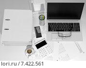 Купить «Рабочее место бухгалтера», иллюстрация № 7422561 (c) Дмитрий Боков / Фотобанк Лори