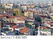 Купить «Вид со смотровой площадки Галатской башни в Стамбуле, Турция», фото № 7430585, снято 18 апреля 2015 г. (c) Илюхина Наталья / Фотобанк Лори