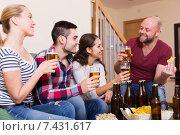Купить «Joyful friends having fun», фото № 7431617, снято 23 июня 2018 г. (c) Яков Филимонов / Фотобанк Лори