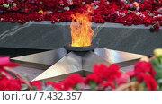 Вечный огонь горит крупным планом на площади Славы в Самаре. Стоковое видео, видеограф FotograFF / Фотобанк Лори