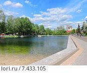 Купить «Пионерский пруд в Парке Горького в Москве», эксклюзивное фото № 7433105, снято 14 мая 2015 г. (c) lana1501 / Фотобанк Лори