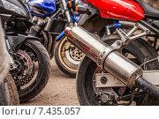 Глушитель мотоцикла (2015 год). Редакционное фото, фотограф Дарья Швыдкая / Фотобанк Лори