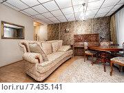 Купить «Интерьер гостиной комнаты», фото № 7435141, снято 27 марта 2015 г. (c) Darja Vorontsova / Фотобанк Лори