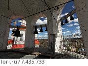 Купить «На колокольне церкви Входа Господня в Иерусалим. Город Тотьма, Вологодская область», эксклюзивное фото № 7435733, снято 14 мая 2014 г. (c) Самохвалов Артем / Фотобанк Лори