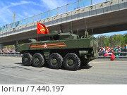 Военная техника на Новой Башиловке после парада в честь Дня Победы в Москве 9 мая 2015 года. Редакционное фото, фотограф lana1501 / Фотобанк Лори