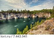 Купить «Горный парк «Рускеала» в Карелии. Лето», фото № 7443941, снято 29 июля 2012 г. (c) Сергей Цепек / Фотобанк Лори