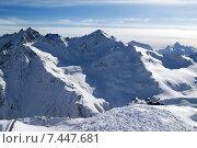 Купить «Горнолыжные склоны в Кавказских горах», фото № 7447681, снято 24 февраля 2010 г. (c) Анна Полторацкая / Фотобанк Лори