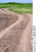Купить «Грунтовая дорога в донской степи», фото № 7450497, снято 16 мая 2015 г. (c) Олег Пчелов / Фотобанк Лори