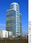 Купить «42-этажный небоскреб. Бизнес-центр «Нордстар-Тауэр». Беговая улица, 3. Москва», эксклюзивное фото № 7451273, снято 9 марта 2015 г. (c) lana1501 / Фотобанк Лори