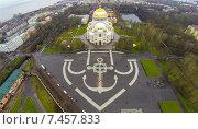 Купить «Морской Никольский собор в Кронштадте снятый с квадрокоптера», фото № 7457833, снято 6 января 2020 г. (c) Андрей Родионов / Фотобанк Лори