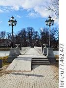 Купить «Белый мостик на озере Верхнее (ранее Обертайх). Калининград (до 1946 года Кёнигсберг), Россия», фото № 7462477, снято 3 марта 2013 г. (c) Сергей Трофименко / Фотобанк Лори