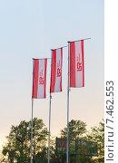 Купить «Рекламные флаги строительной компании ЛСР группа», эксклюзивное фото № 7462553, снято 21 мая 2018 г. (c) Екатерина Тимонова / Фотобанк Лори