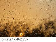 Закат и капли. Стоковое фото, фотограф Новак Максим / Фотобанк Лори