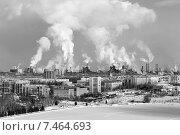 Купить «Экологическая проблема загрязнения окружающей среды и воздуха в крупных городах», фото № 7464693, снято 7 февраля 2015 г. (c) Евгений Ткачёв / Фотобанк Лори