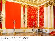 Купить «Петровский (Малый тронный) зал Зимнего дворца», фото № 7470253, снято 25 января 2015 г. (c) Валерия Попова / Фотобанк Лори