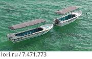 Две лодки. Стоковое видео, видеограф Олег Жигунов / Фотобанк Лори