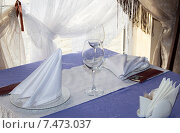 Купить «Сервировка стола», фото № 7473037, снято 5 мая 2014 г. (c) Олег Хархан / Фотобанк Лори