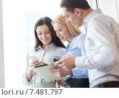Купить «business team working with tablet pcs in office», фото № 7481797, снято 23 ноября 2013 г. (c) Syda Productions / Фотобанк Лори