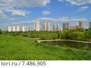 Купить «36-й микрорайон Раменок. Москва», эксклюзивное фото № 7486905, снято 12 мая 2015 г. (c) lana1501 / Фотобанк Лори