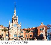 Купить «View of hospital de Sant Pau. Barcelona», фото № 7487169, снято 17 августа 2018 г. (c) Яков Филимонов / Фотобанк Лори