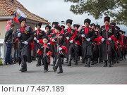 Купить «Казаки на параде в честь Дня Победы 9 мая 2015 года в Геленджике», эксклюзивное фото № 7487189, снято 9 мая 2015 г. (c) Алексей Шматков / Фотобанк Лори