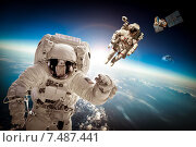 Купить «Astronaut in outer space», фото № 7487441, снято 9 февраля 2013 г. (c) Андрей Армягов / Фотобанк Лори