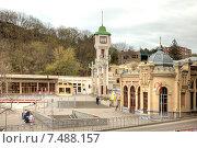 Купить «Город Кисловодск. Железнодорожный вокзал», фото № 7488157, снято 30 апреля 2015 г. (c) Parmenov Pavel / Фотобанк Лори