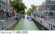 Купить «Делфт (Голландия), городской пейзаж», видеоролик № 7490885, снято 28 мая 2015 г. (c) FMRU / Фотобанк Лори