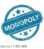 Купить «MONOPOLY round stamp», иллюстрация № 7491469 (c) Иван Рябоконь / Фотобанк Лори