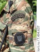 Погон и нарукавный шеврон офицера спецназа ГУФСИН. Стоковое фото, фотограф FotograFF / Фотобанк Лори