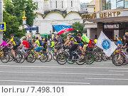 V Московский велопарад в поддержку развития велосипедной инфраструктуры и за безопасность на дорогах. Москва, 31 мая 2015 года. Редакционное фото, фотограф Владимир Сергеев / Фотобанк Лори