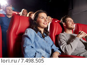 happy friends watching movie in theater. Стоковое фото, фотограф Syda Productions / Фотобанк Лори