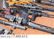 Купить «Российское автоматическое огнестрельное оружие», фото № 7499613, снято 12 ноября 2019 г. (c) FotograFF / Фотобанк Лори