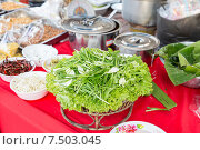 Купить «foodstuff and spices sale at asian street market», фото № 7503045, снято 7 февраля 2015 г. (c) Syda Productions / Фотобанк Лори