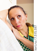 Купить «sad middle-aged woman», фото № 7515597, снято 29 марта 2020 г. (c) Яков Филимонов / Фотобанк Лори