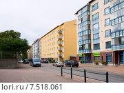 Купить «Жилые дома в Котке. Финляндия», эксклюзивное фото № 7518061, снято 11 сентября 2011 г. (c) Александр Щепин / Фотобанк Лори