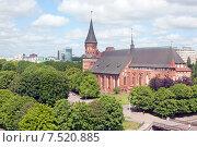 Купить «Вид на Кафедральный собор на острове Канта.  Калининград», эксклюзивное фото № 7520885, снято 4 июня 2015 г. (c) Svet / Фотобанк Лори