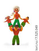 Купить «Папа может. Детская пластилиновая поделка», фото № 7525049, снято 6 марта 2015 г. (c) Элина Гаревская / Фотобанк Лори