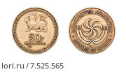 Купить «Монета 50 тетри, 1993 год. Грузия», фото № 7525565, снято 30 марта 2015 г. (c) Евгений Ткачёв / Фотобанк Лори