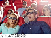 Купить «friends watching horror movie in 3d theater», фото № 7529345, снято 19 января 2015 г. (c) Syda Productions / Фотобанк Лори
