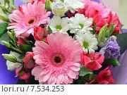 Купить «Букет цветов с герберами», фото № 7534253, снято 25 мая 2015 г. (c) Володина Ольга / Фотобанк Лори