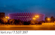 Купить «BAKU - MAY 10, 2015: Heydar Aliyev Sports Complex on May 10 in BAKU, Azerbaijan. Baku Azerbaijan will host the first European Games», фото № 7537397, снято 10 мая 2015 г. (c) Elnur / Фотобанк Лори