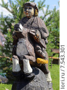 Конек-Горбунек деревянный (2014 год). Редакционное фото, фотограф Анатолий Матвейчук / Фотобанк Лори