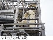 Купить «Металлические конструкции строящегося предприятия», фото № 7547829, снято 24 мая 2015 г. (c) Андрей С / Фотобанк Лори