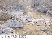 Колымская речка зимой. Стоковое фото, фотограф Елена Соболева / Фотобанк Лори